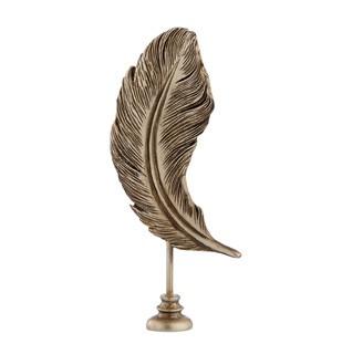 Feder SEMINA antik Gold H25 cm