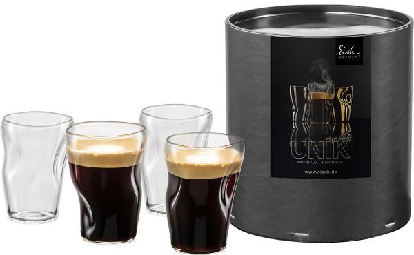 4 Espresso ohne Untertasse