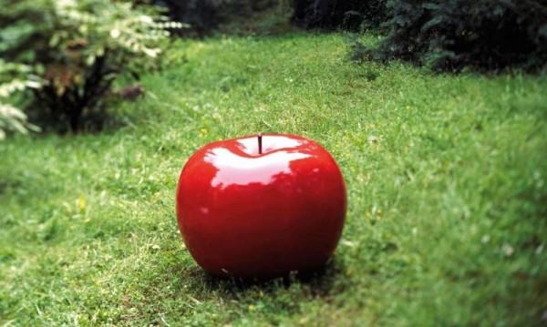 Apfel ROT - CERAMIC Außenbereich